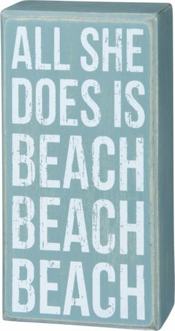Beach Beach Beach Box Sign
