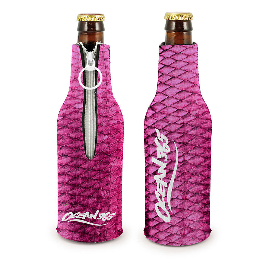 Pink Fish Scale Bottle Cooler