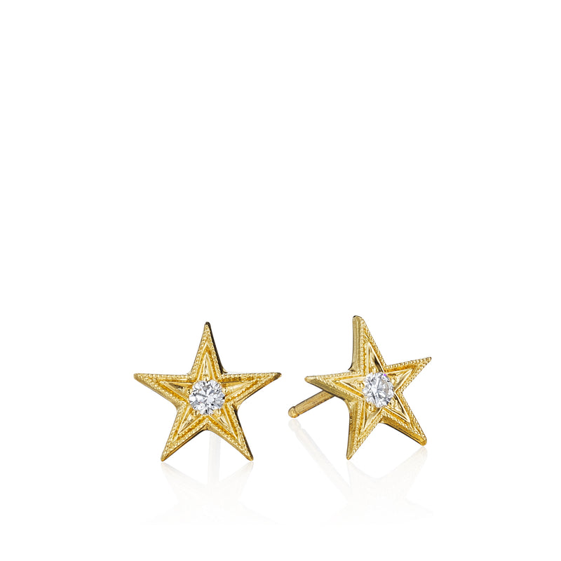 Five Point Star Stud Earrings