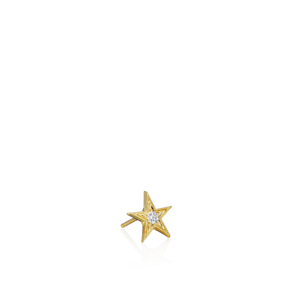Tiny Five Point Star Stud Earrings