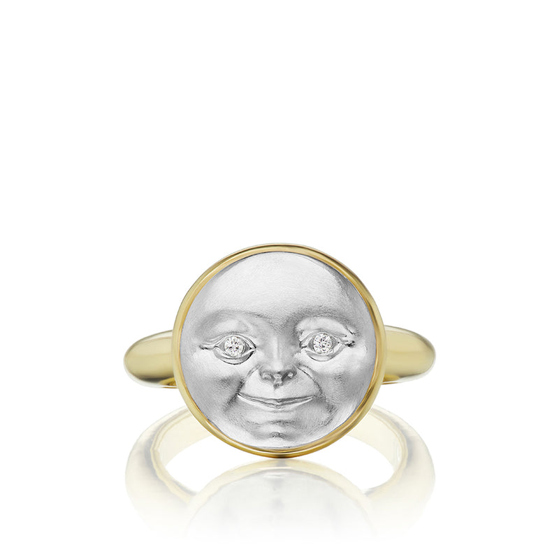 Small Moonface Ring