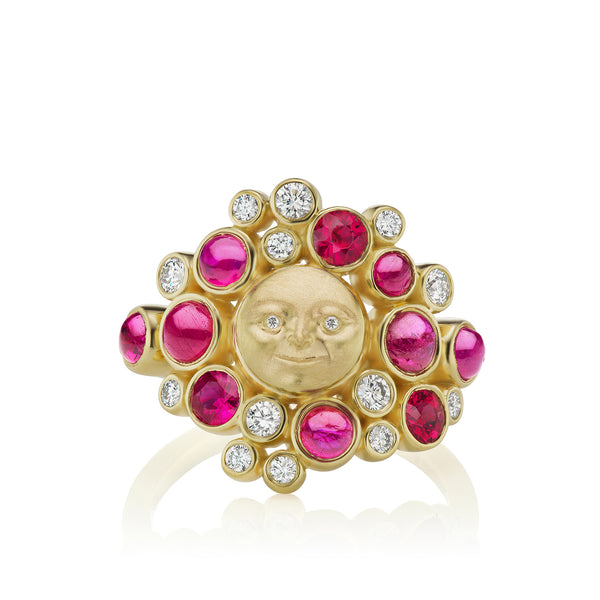 Moonface Cluster Ring