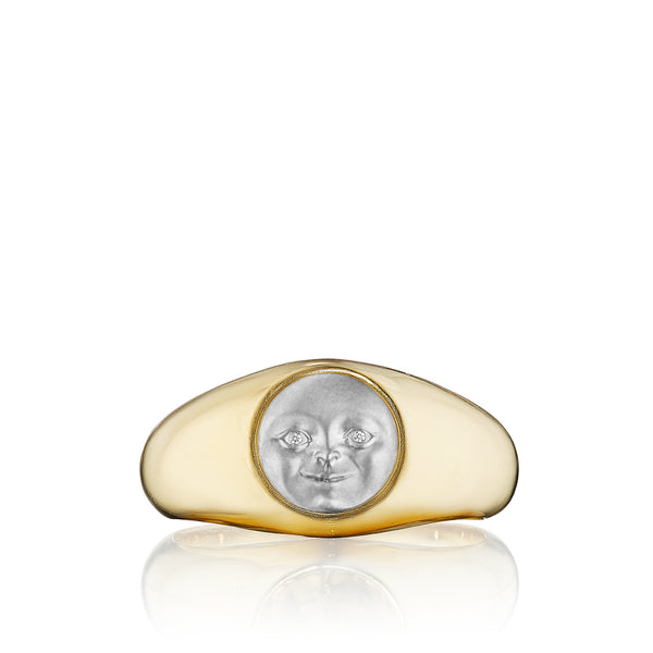 Moonface Gypsy Ring