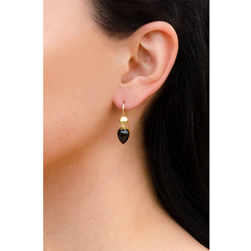 Skull Gem Drop Earrings