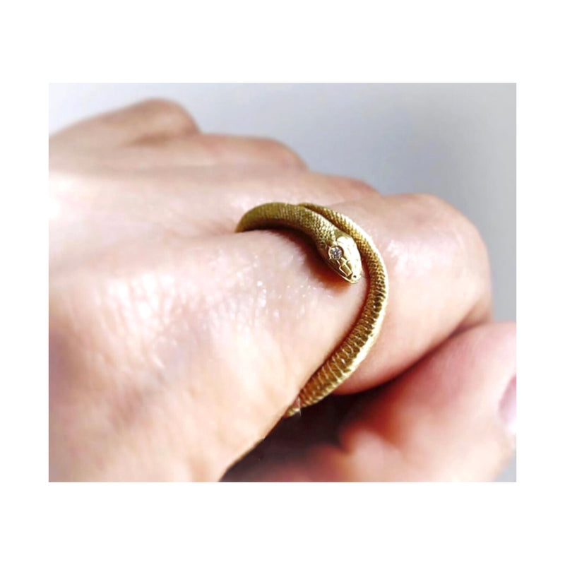 Black Silver Stacking Serpent Ring