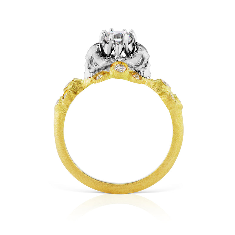 Memento Mori Diamond Engagement Ring