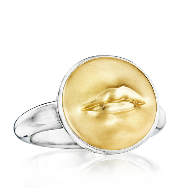 Gold and Silver Kiss Me Ring