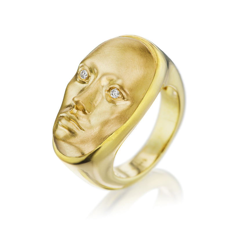 Vulcana Ring with Diamond Eyes