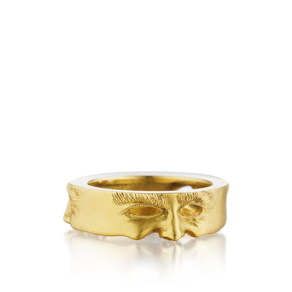 Gold Mask Ring