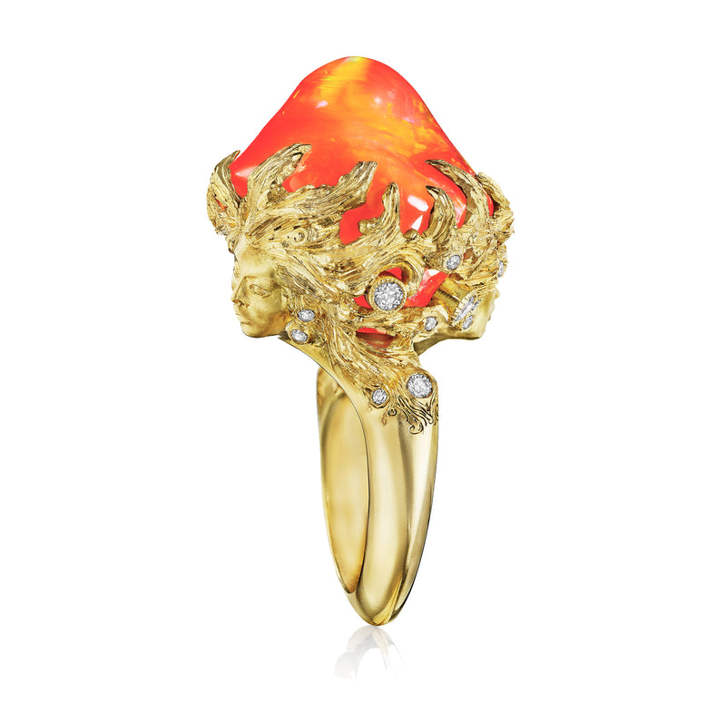 Fire Opal Muse Dream Ring