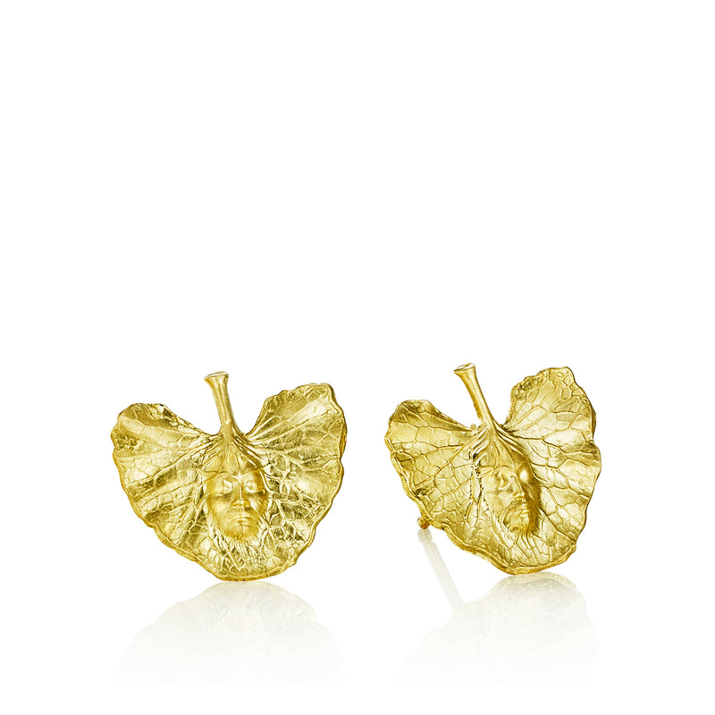 Shoko-Leaf Stud Earrings