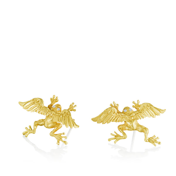 Flying Frog Stud Earrigs