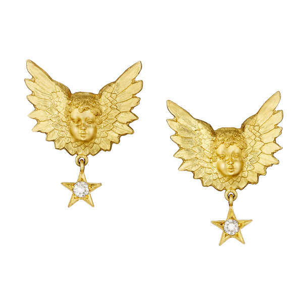 Star Struck Putti Stud Earrings