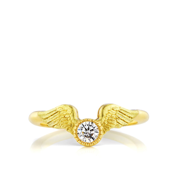 Flying Diamond Engagement Ring