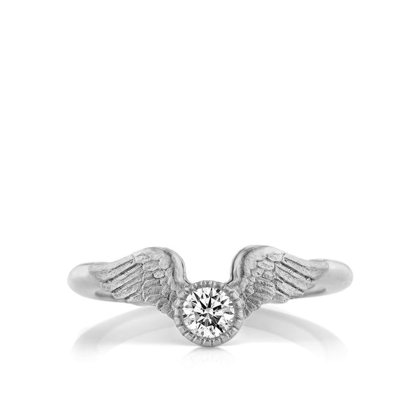 Platinum Flying Diamond Engagement Ring