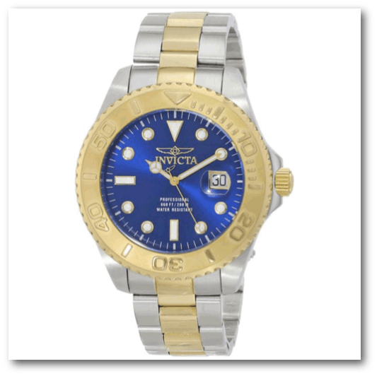 Blue Dial Two Tone Bracelet Watch - Exquisite Supplies LLC