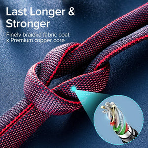 Micro/Type-C USB Fast Charging Cable Sync Braided For Android Cell Phone