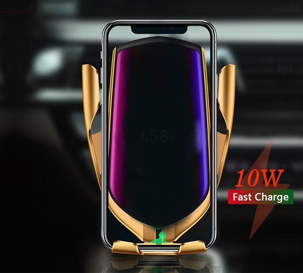 Wireless Phone Charger with Automatic Clamping
