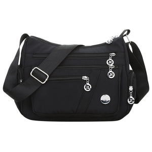 Nylon Waterproof Messenger Handbag