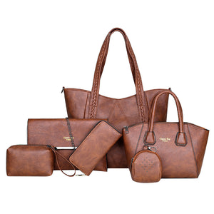 Luxury Retro 6pc Handbag Set