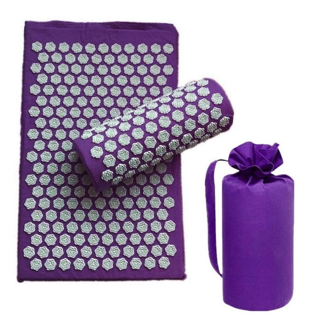 Lotus Acupuncture Yoga Mat and Pillow