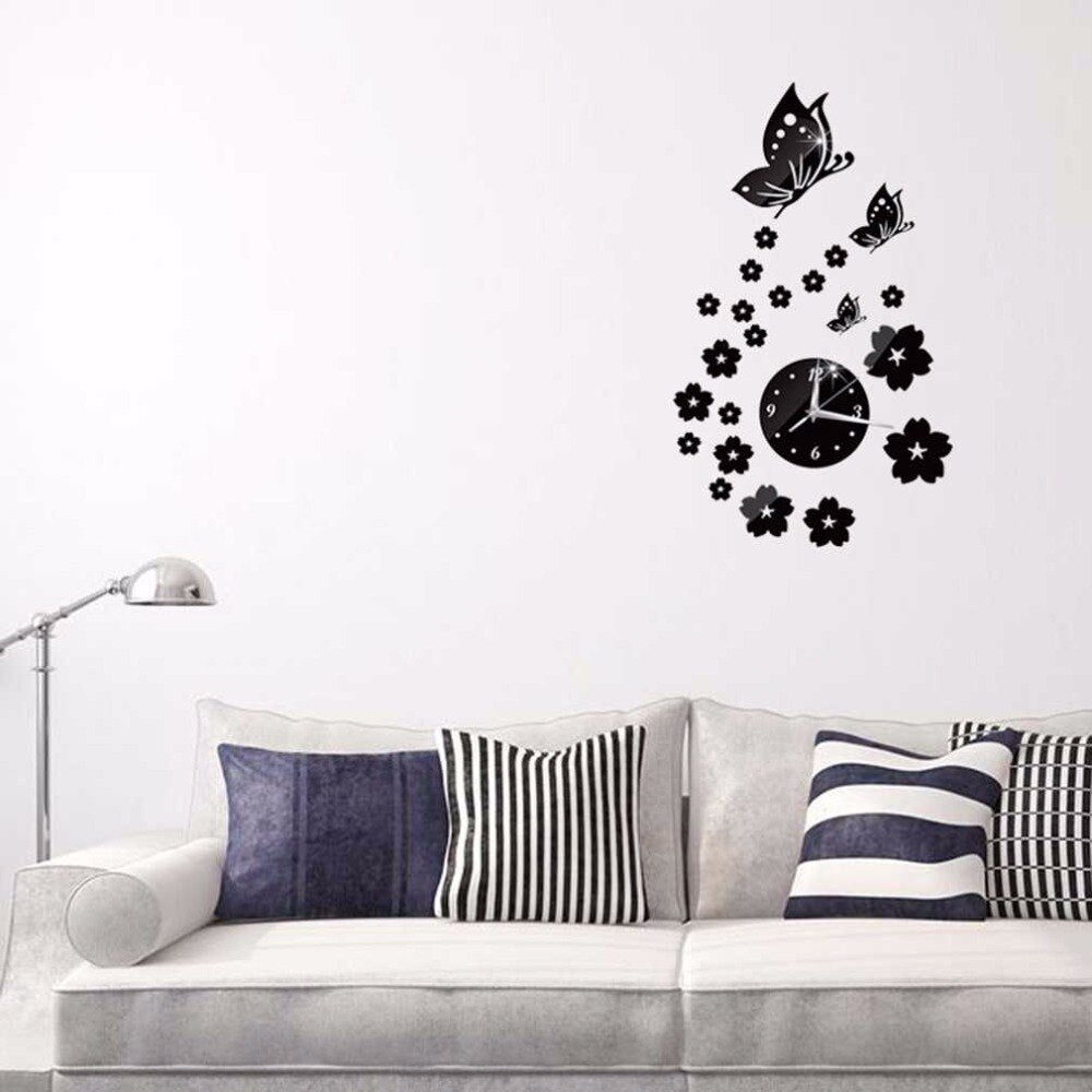 Exquisite Butterfly Wall Clock