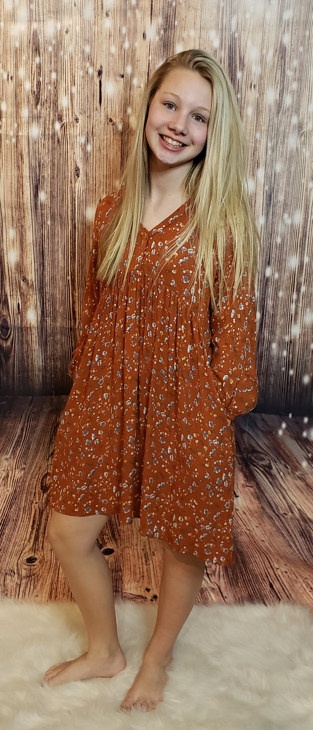 Tammy Rust Baby Doll Dress