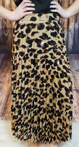 Tabitha Leopard Pleated Skirt