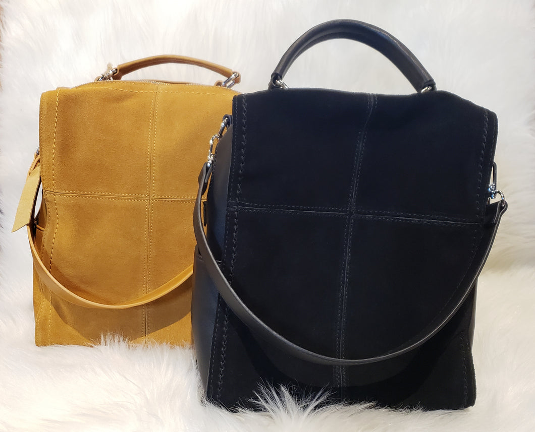 Cyndi Transitional Suede and Leather Purse