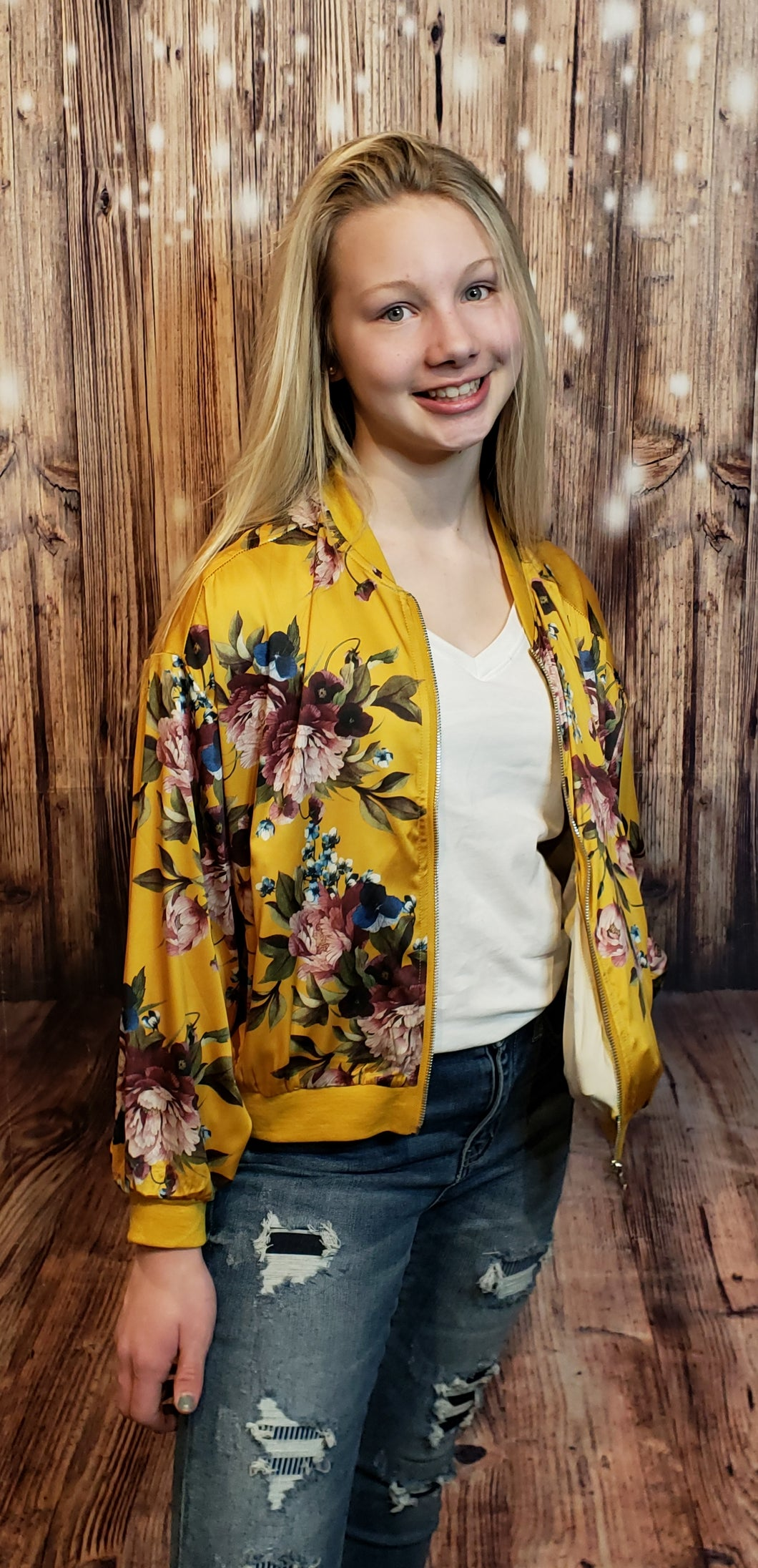 Morgan Floral Bomber Jacket