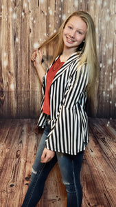 Sandy Striped Blazer