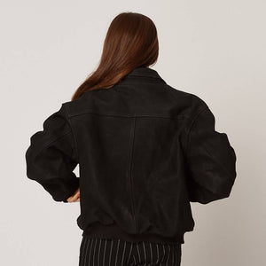 Womens Upcycled Leather Jacket
