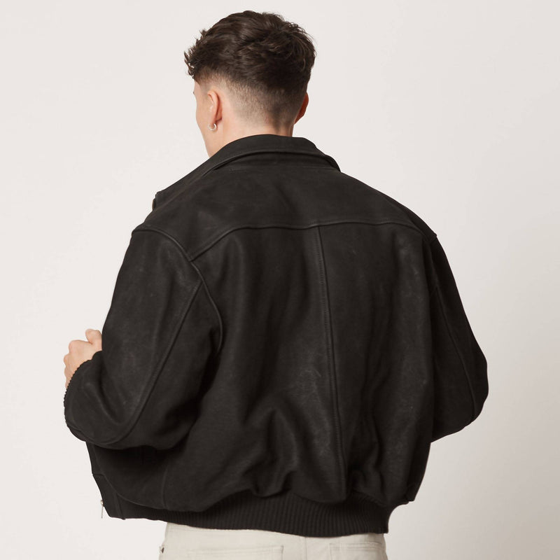 Mens Upcycled Leather Jacket | Bespoke | 100% Italian Leather