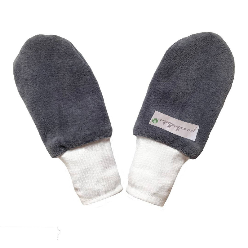 Organic Mittens - Grey (pack of 2 pairs)