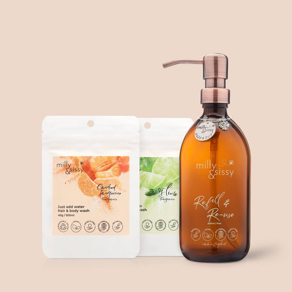 Candied Tangerine & Zesty Lime, hair & body wash SET - Sellers With A Story