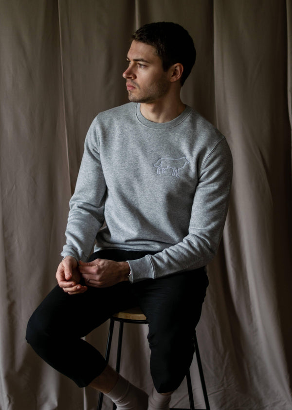 Organic Silhouette Sweater - Grey
