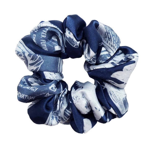 Designed to Inspire Change | Action Scrunchie in Navy - Sellers With A Story
