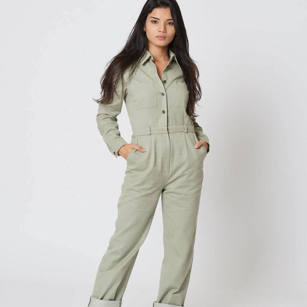 100% Organic Cotton | Bespoke | The Green Jumpsuit - Sellers With A Story