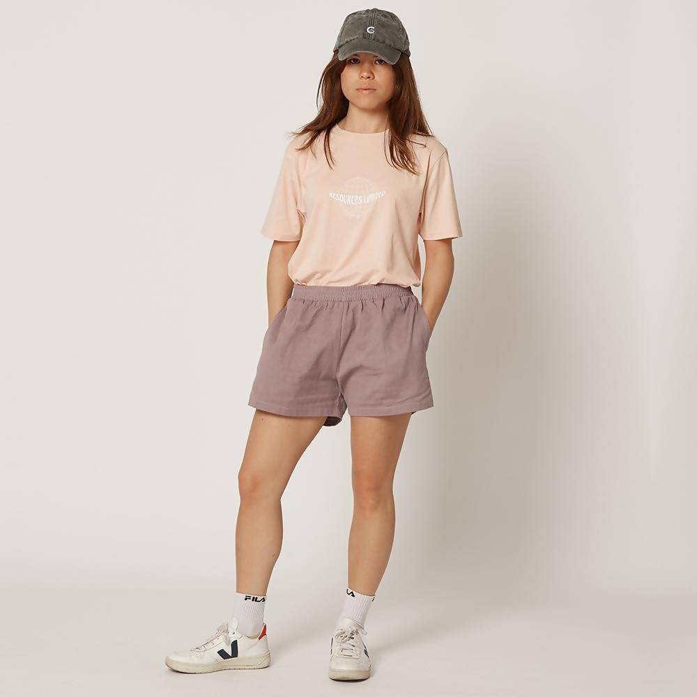 Womens Lilac Organic Cotton Shorts