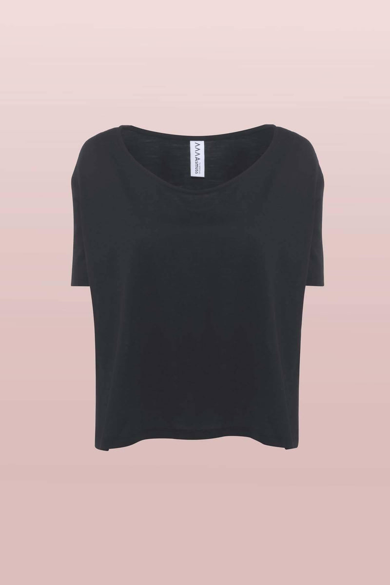 A-line T-shirt in Black
