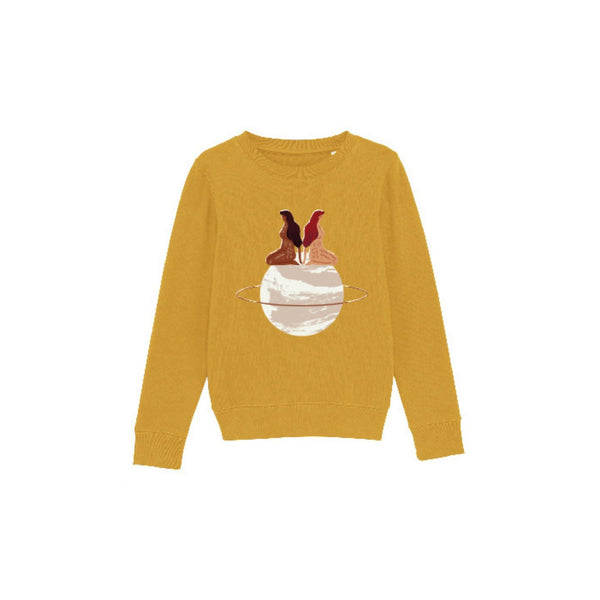 Organic Cotton Sweatshirt Kids (Mustard)