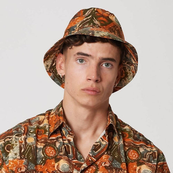 Mens Tencel Sustainable Bucket Hat Red - Sellers With A Story