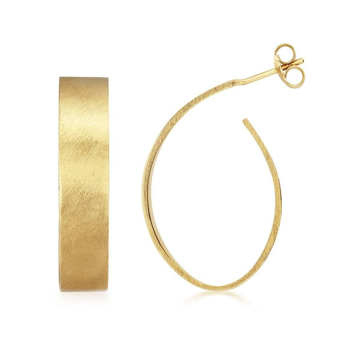 Apple Pip Hoop Earrings, Gold
