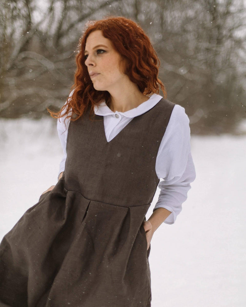 Designed for You | Pinafore Dress Grey