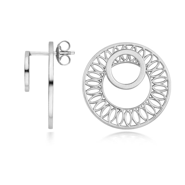 Seville Slice Ear Jacket Earrings, Silver
