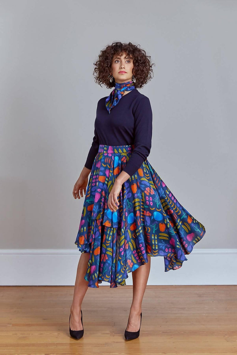 A Vibrant Talking Point | Airmiles Wrap Skirt
