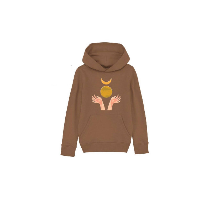 Organic Cotton Hoodie Kids (Chocolate)