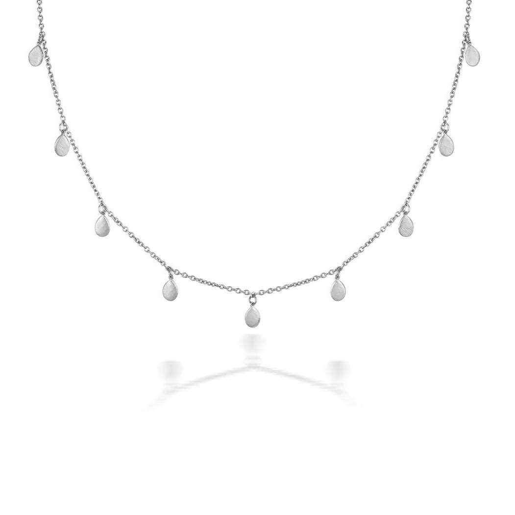 Apple Nine Pip Necklace, Silver
