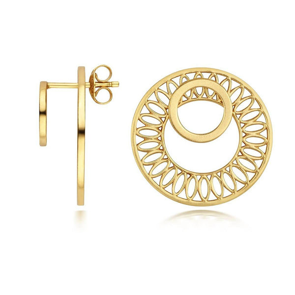 Seville Slice Ear Jacket Earrings, Gold