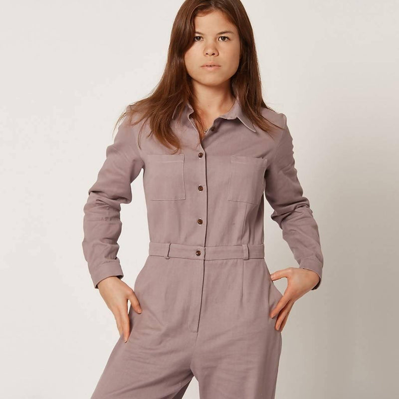 100% Organic Cotton | Bespoke | The Lilac Jumpsuit - Sellers With A Story